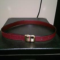 Authentic Gucci Leather  Belt Size 70 - 28 Photo