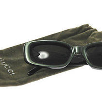 Authentic Gucci Logos Sunglasses Eye Wear Green Black Italy Vintage 2-3395cw Photo