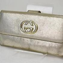 Authentic Gucci Long Wallet  Gold 31829 Photo
