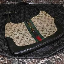 Authentic Gucci Monogram Jackie O Handbag Bag Purse Free Shipping Photo