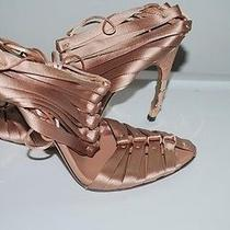 Authentic Gucci Nude Corset Bamboo Heel Sandals 8 Rare Photo
