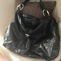 Authentic Gucci Sabrina Hobo Black Leather Large Handbag Shoulder Purse Photo