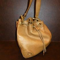 Authentic Gucci Tan Leather Hobo Handbag With Studs and Hardware Photo