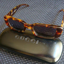 Authentic  Gucci Tortoise Frames Gg 2409/n/s Sunglasses in Case Free Shipping Photo