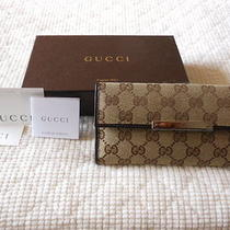 Authentic Gucci Trademark Continental Wallet Photo