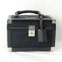 Authentic  Gucci Vanity Bag  Made in Italy Black Nylon 12144 Photo
