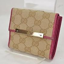 Authentic Gucci Wallet  Browns 31834 Photo