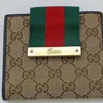 Authentic Gucci Wallet - Classic Fabric and Colors - Leather Photo