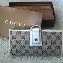 Authentic Gucci Wallet - Gucci Logo Print - Brand New Still in Box Photo