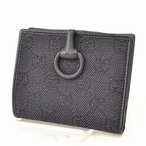 Authentic  Gucci Wallet  Made in Italy Black Canvas 32446 Photo