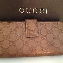 Authentic Gucci Wallet to Match Bronze Sukey Bag Photo