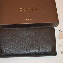 Authentic Gucci Women's Guccissima  Leather Wallet With Receipt  Photo