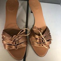 Authentic Gucci Women's Silk Satin Pumps Shoes Us Size 6.5 Kitten Heel Photo