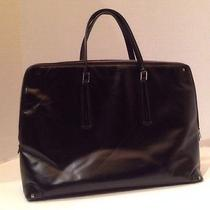 Authentic Gucci X Large Black Leather Zipper Tote Briefcase Computer Bag Classic Photo
