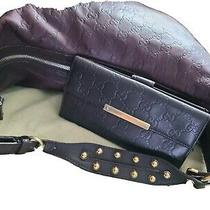 Authentic Guccissima Brown Embossed Gg Leather Studded Hobo Bag and Gucci Wallet Photo