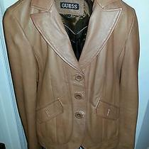 Authentic Guess Leather Jacket Photo