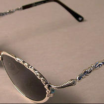 Authentic Handmade Brighton Shenandoah Sunglasses Fancy Silvertone Scrolls  Photo