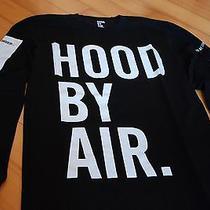 Authentic Hba Hood by Air Hba Fossil Tee in Black Long Sleeve Tee W1-T6-Cwa Sz L Photo