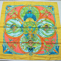 Authentic Hermes 90cm Silk Scarf Amazonia Mint in Box Photo