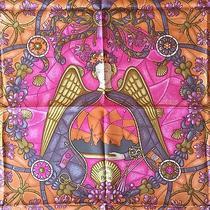 Authentic Hermes 90cm Silk Scarf Lumieres De Paris Pink 2006 Grail Photo