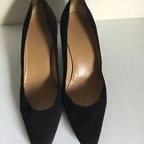 Authentic Hermes Black Suede High Heel Pumps Shoes Sz 38 Photo