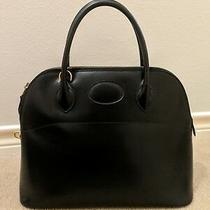 Authentic Hermes Bolide 31 Black Box Leather Handbag Purse Photo