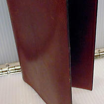Authentic Hermes Brown Leather Address Book Cover Photo
