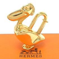 Authentic Hermes Cadena Gold Color Pelican Key Bag Necklace Pendant Charm W/box Photo