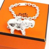 Authentic Hermes Cadena Hippopotamus Key Chain Charm Sterling Silver 925 U817 Photo