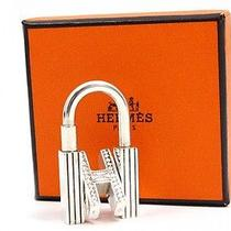 Authentic Hermes Cadena Sterling Silver 925 Key Chain Ring Charm Tuareg U822 Photo