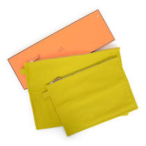 Authentic Hermes Canvas Porch Two Sets Mustard Color Goods Others Photo