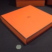 Authentic Hermes Ceramic Plate Orange Box & Corrugated Paper Only 10x10 X1 3/4 Photo