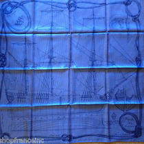 Authentic Hermes Cheval De Mer Silk Scarf 35