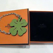 Authentic Hermes Clover Bag Charm  Photo