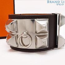 Authentic Hermes Collier De Chien Studded Bangle Bracelet Q Photo