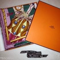Authentic Hermes Cosmogonie Apache Silk Scarf W/ Box Pink Green Discount Photo