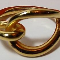 Authentic Hermes Fontaineblue Scarf Ring 14k Gold Plate Photo