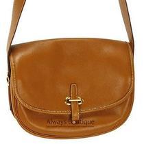 Authentic Hermes Gold Leather Balle De Golfe Shoulder Bag W/ Adjustable Strap Photo
