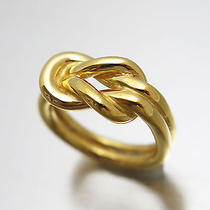 Authentic Hermes  Gold Plated Scarf Ring E-9360 Photo