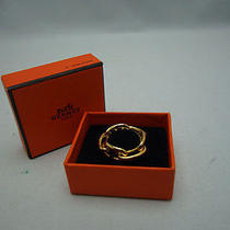 Authentic Hermes Gold-Plated Scarf Ring Made in France From Japan Photo