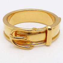 Authentic Hermes  Gold Tone  Scarf Ring   E-8977 Photo