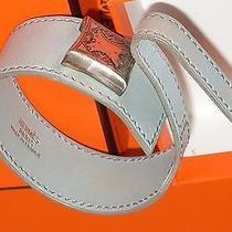 Authentic Hermes Grey Leather Bracelet Photo