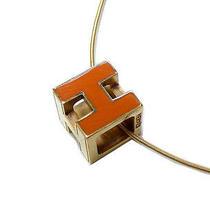 Authentic Hermes H Cube Necklaces 0401 Photo