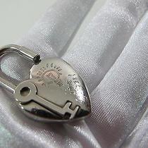 Authentic Hermes  Heart Cadena Lock  or  Bag  Charm Palladium Plated  B Photo