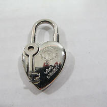 Authentic Hermes  Heart Cadena Lock  or  Bag  Charm Palladium Plated   Photo