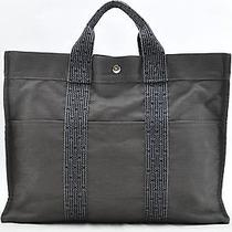 Authentic Hermes Her Line Mm Hand Tote Bag Grey 11647 Photo
