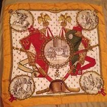 Authentic Hermes Hermes 100 % Silk Scarf Multicolored  Photo