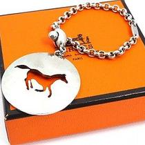 Authentic Hermes Horsekey Chain Charm Sterling Silver 925  U820 Photo
