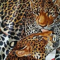 Authentic Hermes Jungle Love  Silk Scarf Red Robert Dallet  Photo