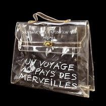 Authentic Hermes Kelly Beach Hand Bag Souvenir De l'exposition 1997 Clr Lp08620 Photo